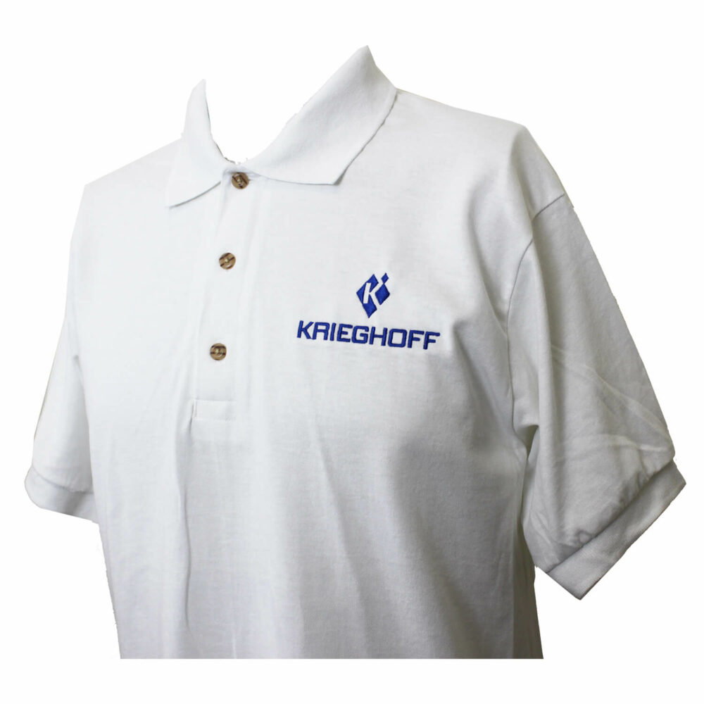 DryBlend Jersey Polo Shirt, White