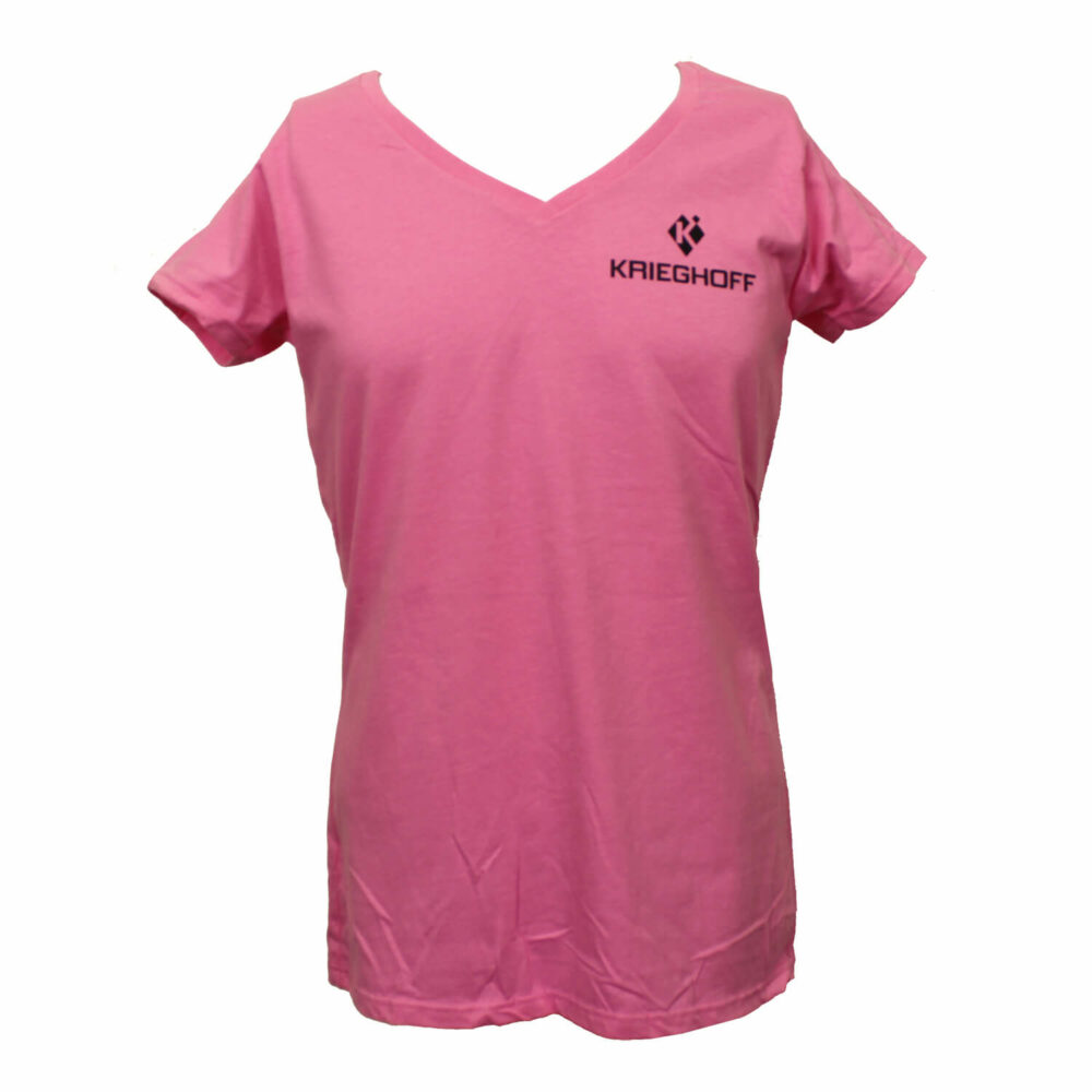 Krieghoff Ladies' Lightweight V-Neck T-Shirt, Azalea