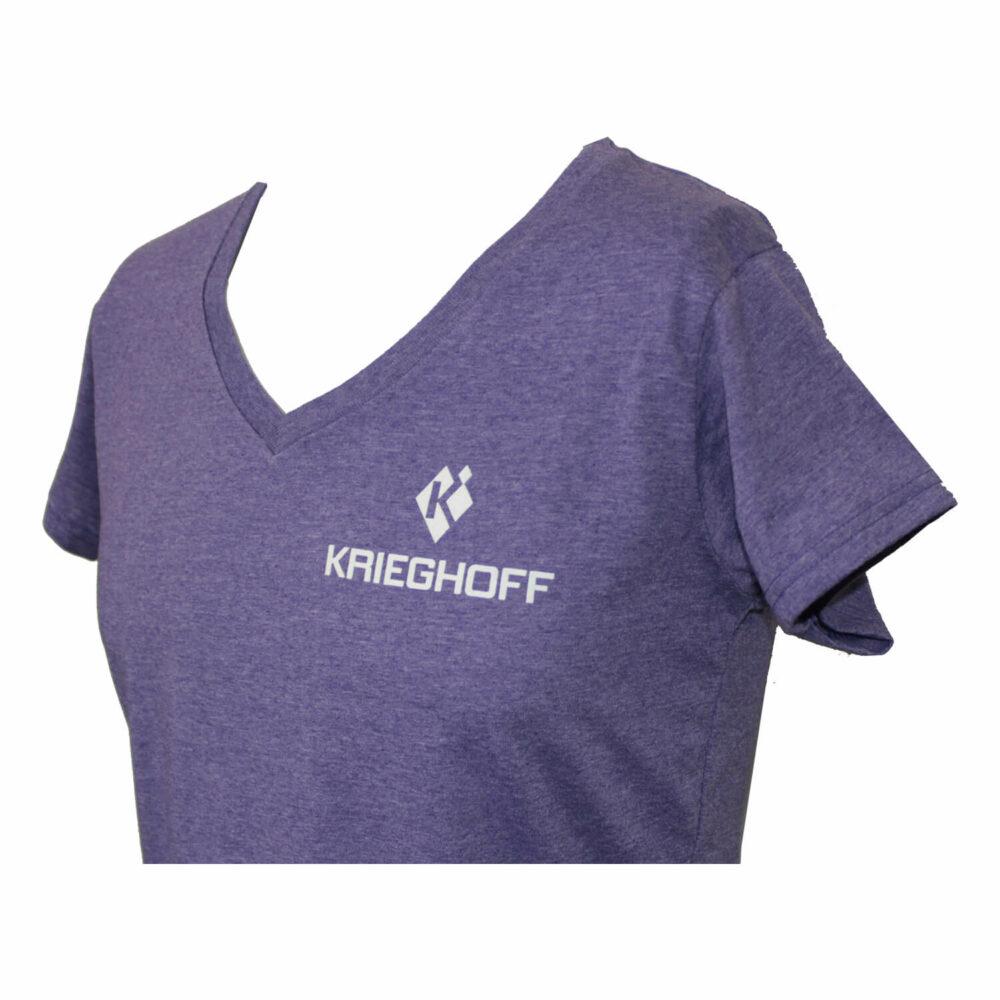 Krieghoff Ladies' Lightweight V-Neck T-Shirt, Heather Purple