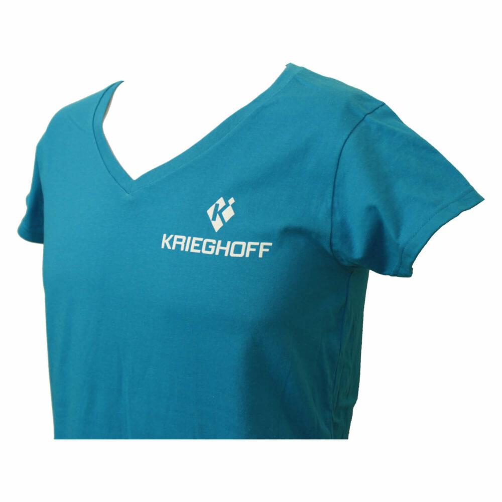 Krieghoff Ladies' Lightweight V-Neck T-Shirt, Sapphire