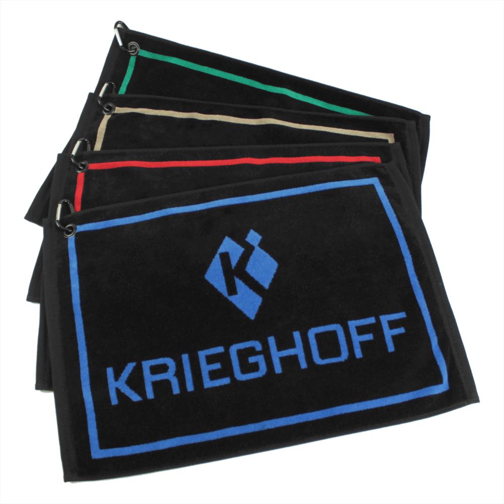 Krieghoff Woven Gun Towels – Teal/Black