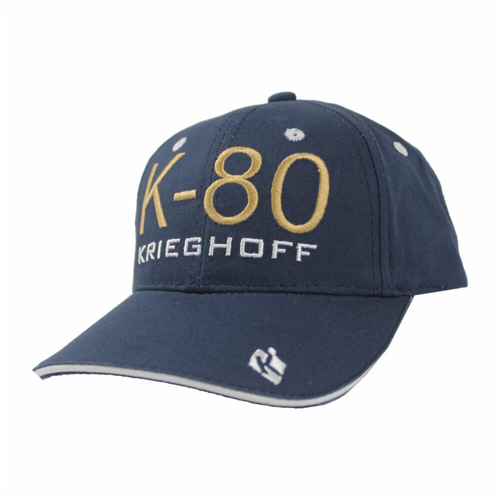 Hat, K80, Brushed Twill, Navy/White
