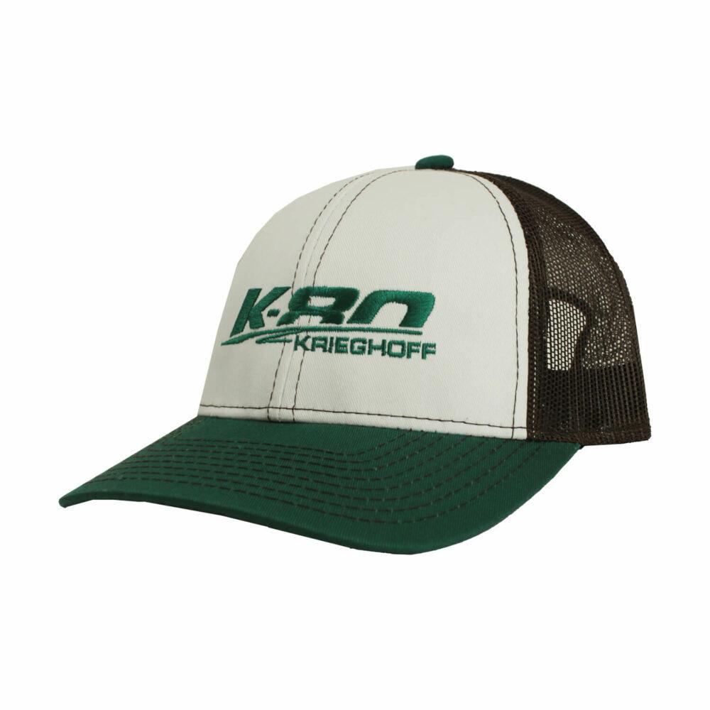Hat, Trucker, K80, White/Brown/Aqua