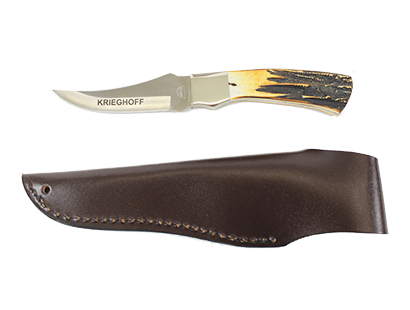 Knife with Genuine Stag Handle