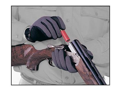 Gun Gloves, Standard Weight, Black/Gray