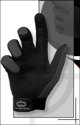 Gun Gloves, Summer Weight, Black/Gray