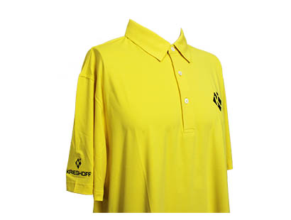 Polo, Eco-Tec, Diamond, Yellow