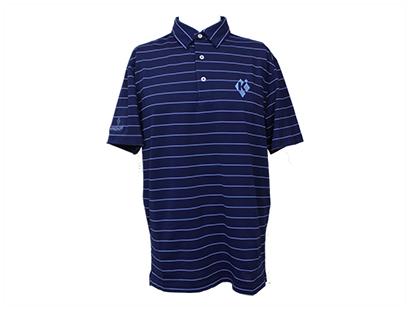Polo, Eco-Tec Pique, Striped Navy/Blue