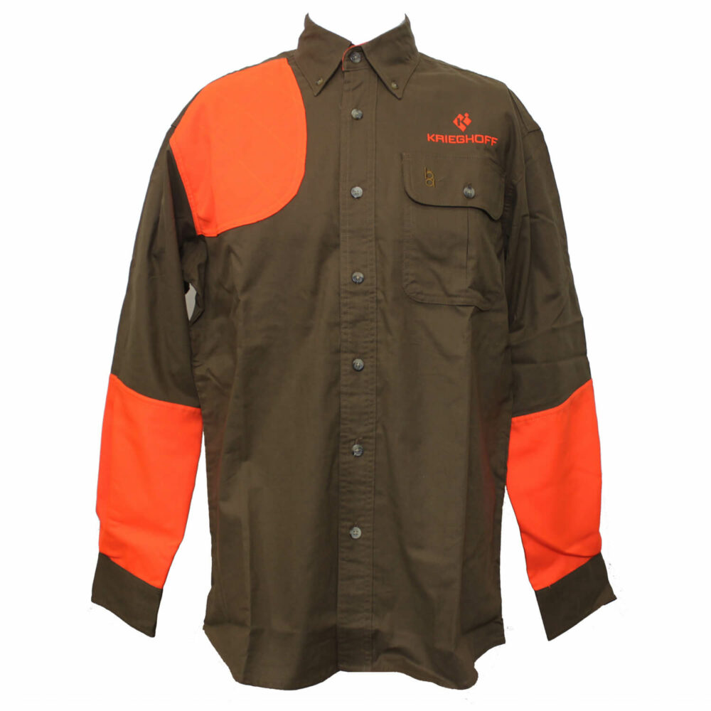 Shirt, Hunting, LS, Brown/Orange