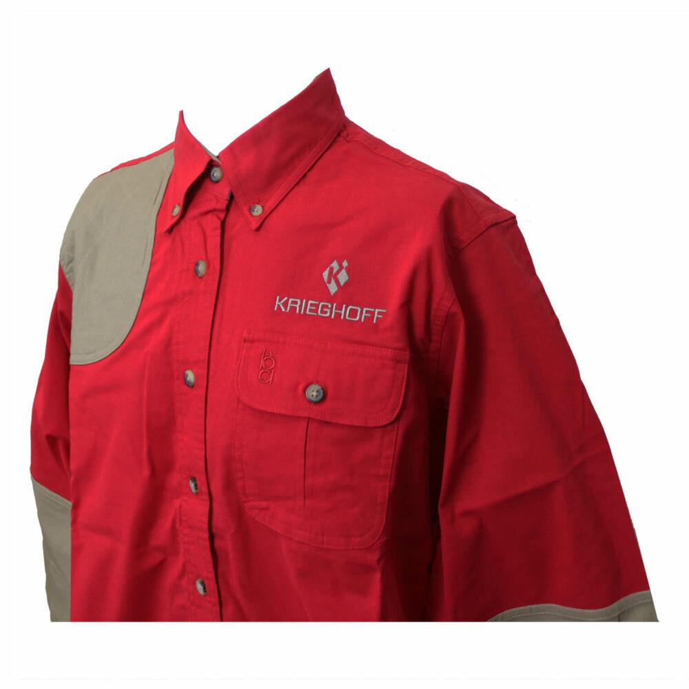 Ladies' Shirt, Hunting, LS, Red/Tan