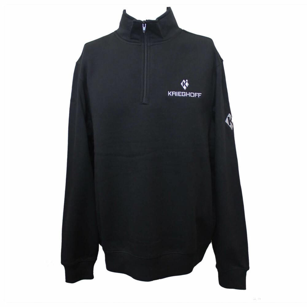 Sweatshirt, 1/4 Zip, Black