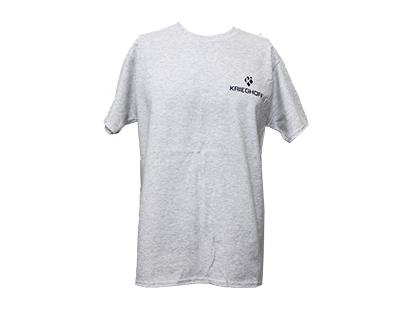 T-Shirt, Broken Target, Ash Grey