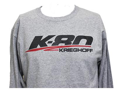 T-Shirt, Long Sleeve, K80, Grey