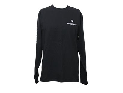 T-Shirt, Cotton, LS, Black