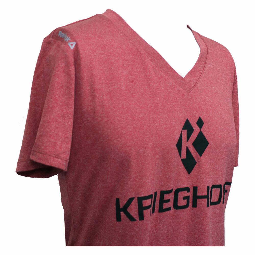 T-Shirt, Perf, Lady, Reebok, Heather Red