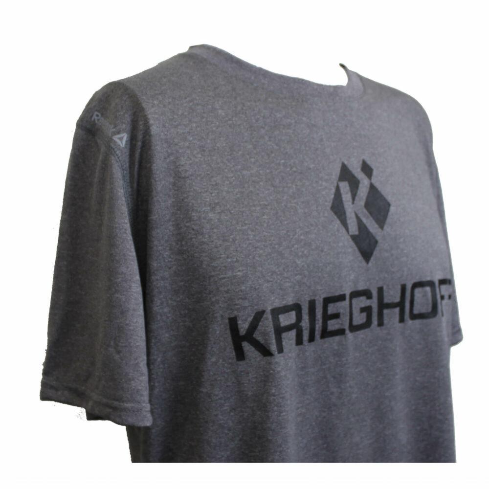 T-Shirt, Performance; Reebok, Heather Charcoal