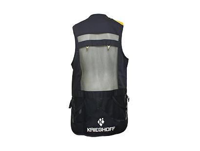 Shooting Vest by Castellani, Blue Fabric Pad, RH