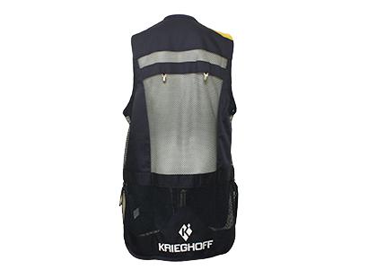 Shooting Vest by Castellani, Leather Pad, RH