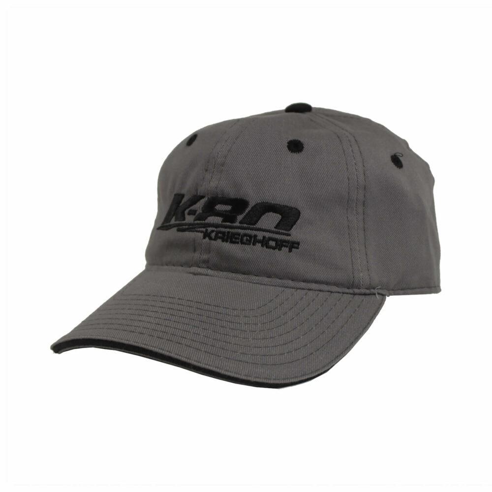 K-80 Cotton Twill Hat, Grey/Black