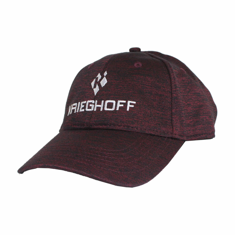 Krieghoff Performance Hat, Heather Maroon