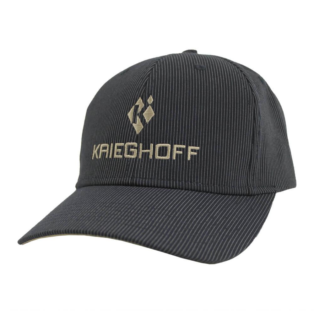 Krieghoff Pinstripe Hat, Black/Tan