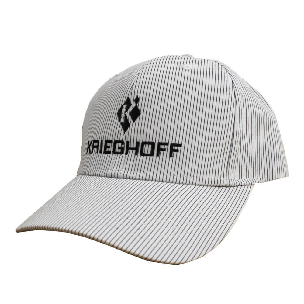 Krieghoff Pinstripe Hat, White/Black