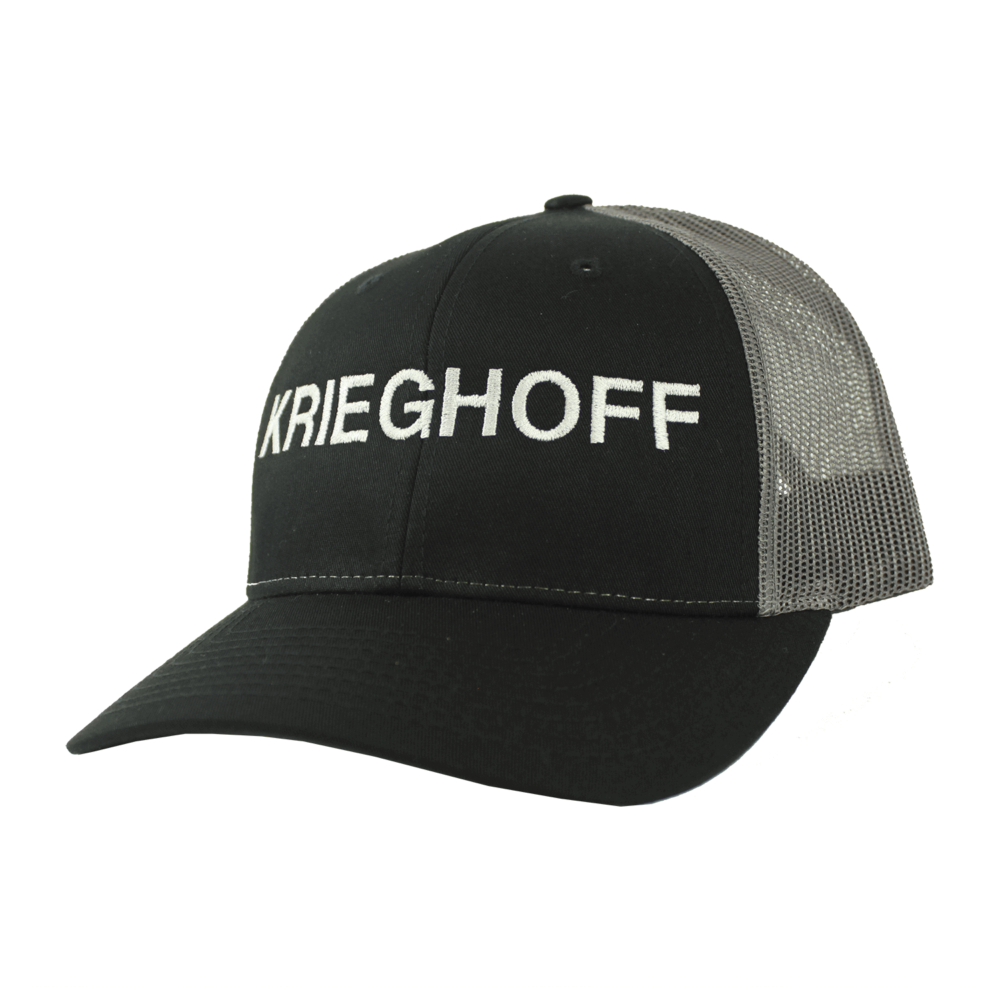 Krieghoff Trucker Hat, Black/Charcoal