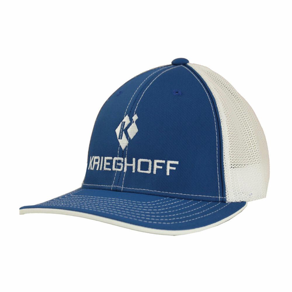 Krieghoff Trucker Hat, Royal/White