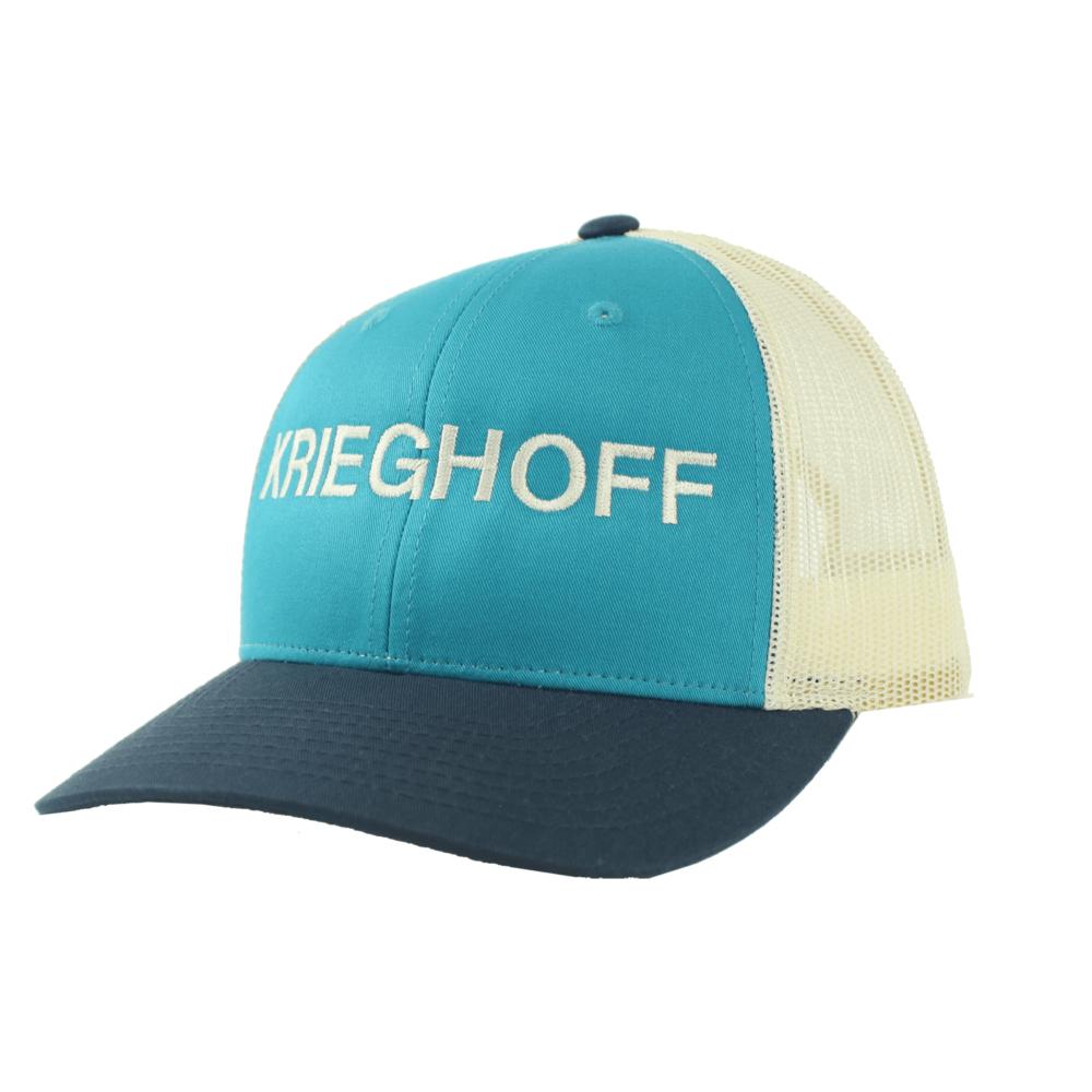 Krieghoff Trucker Hat, Teal/Navy