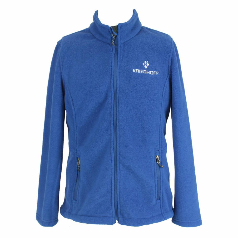 Krieghoff Ladies' Full Zip Fleece Jacket, Royal Blue