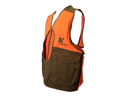 Krieghoff Waxed Cotton Upland Vest with Mesh Back, by Boyt – Old Logo, Special Price! 2XL Only