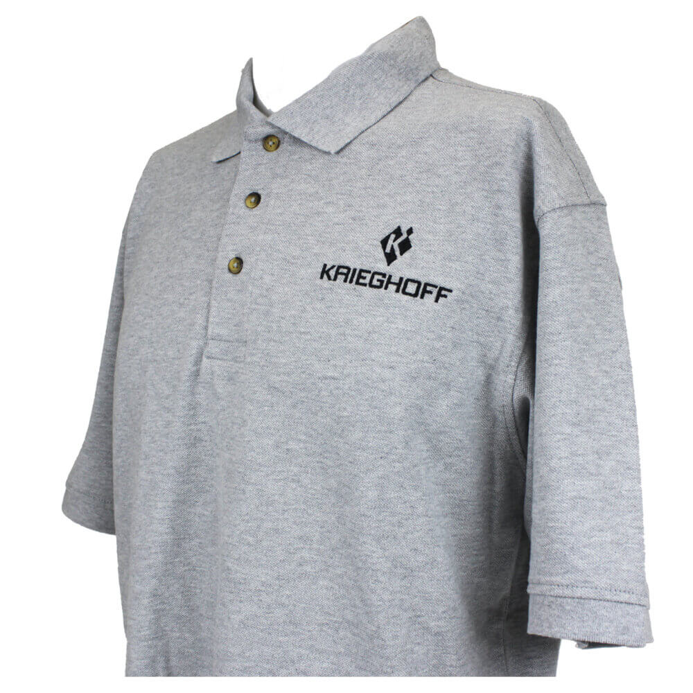 Krieghoff Cotton Polo Shirt, Heather Grey
