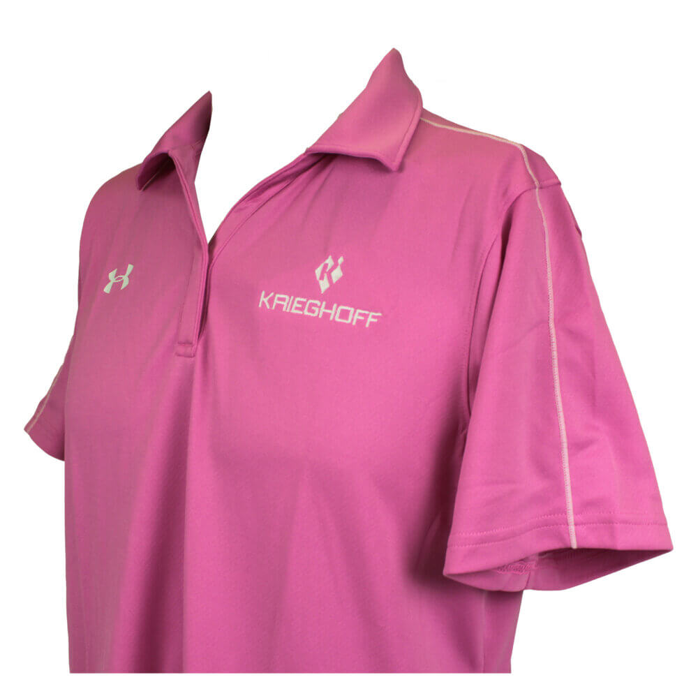 Ladies' Under Armour Polo Shirt, Pink