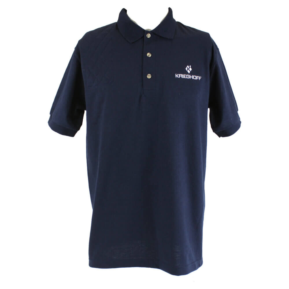 Krieghoff Short Sleeve Shooting Polo, Navy Blue, Right Handed