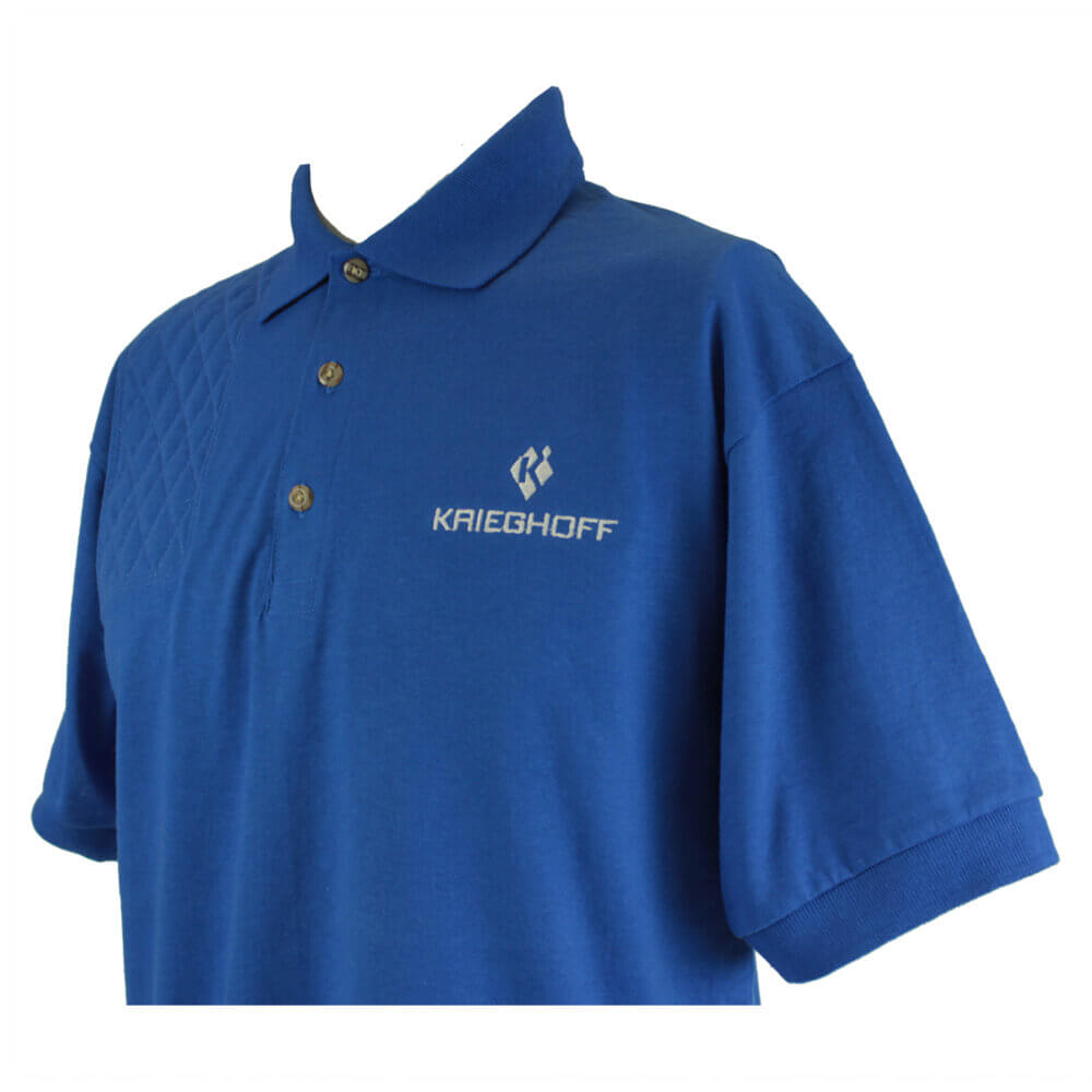 Krieghoff Short Sleeve Shooting Polo, Royal Blue, Right Handed