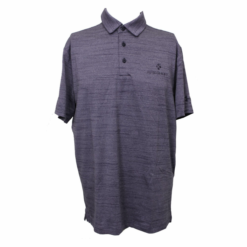 Men's Under Amour Polo Shirt, Heathered Purple