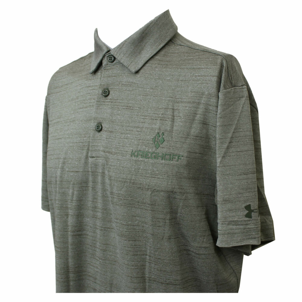 Men's Under Amour Polo Shirt, Heathered Green