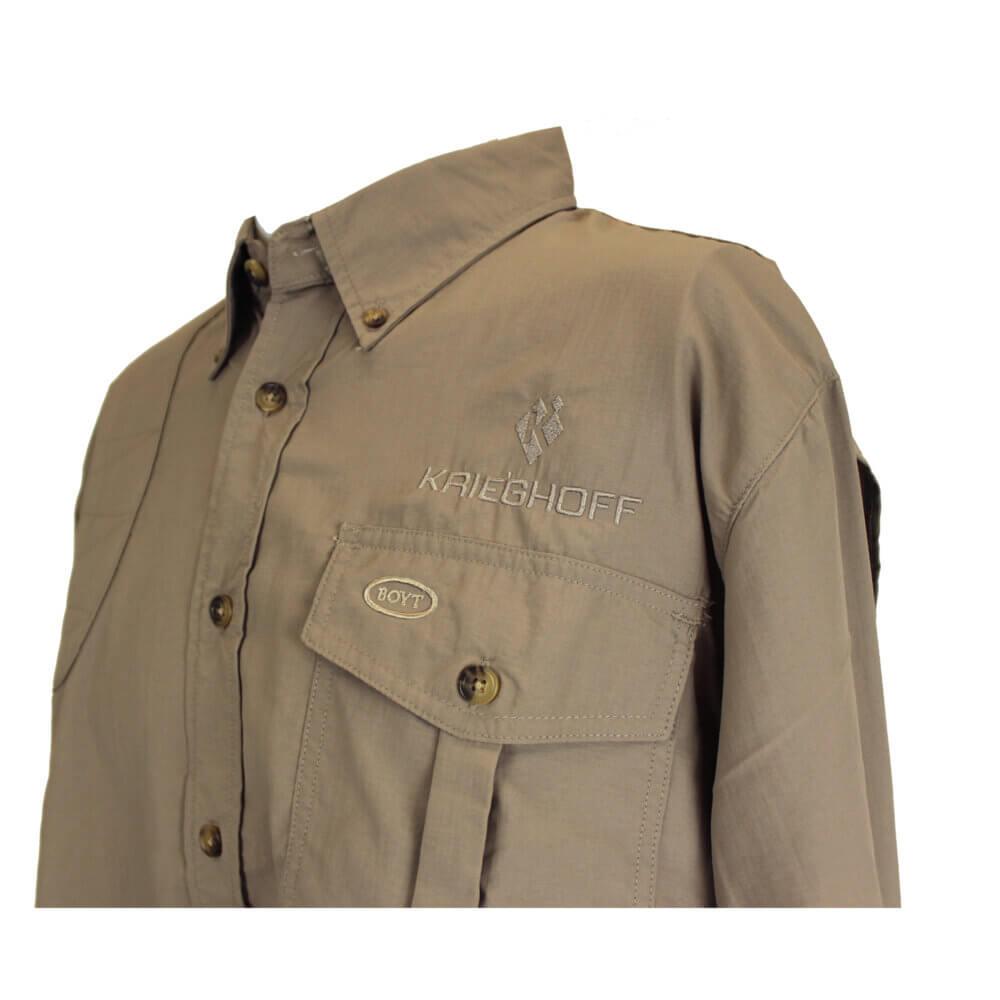 Krieghoff Pica Zuro Long Sleeve Mesh Back Shirt by Boyt, Khaki