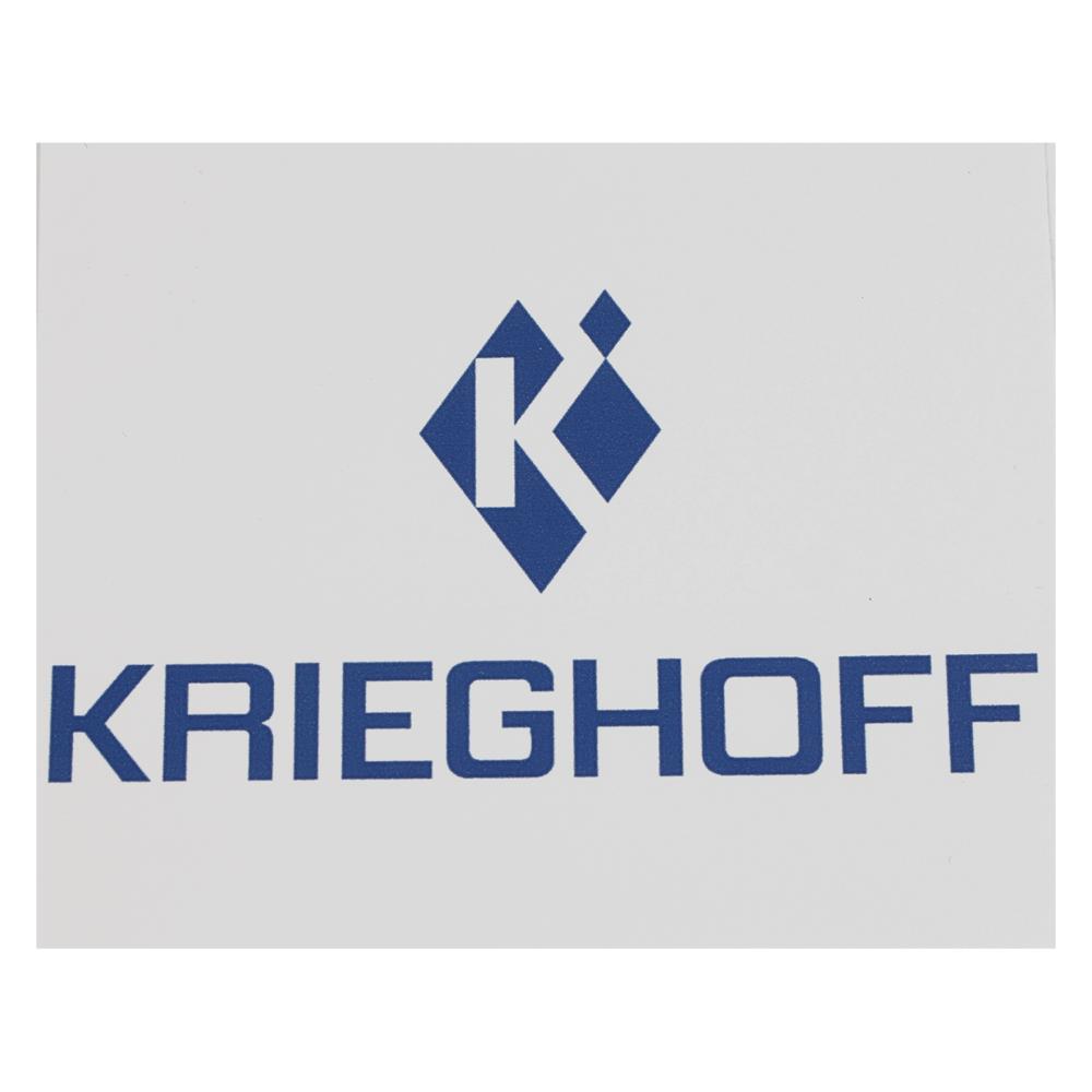 Krieghoff Logo Sticker, White