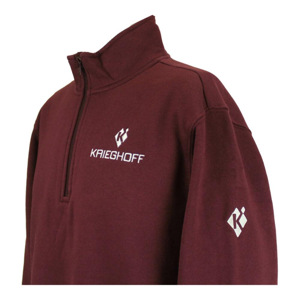 Krieghoff 1/4 Zip Sweatshirt, Maroon