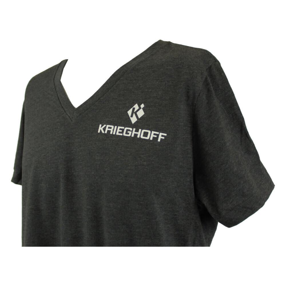 Krieghoff Ladies' V-Neck T-Shirt, Relaxed Fit, Dark Grey