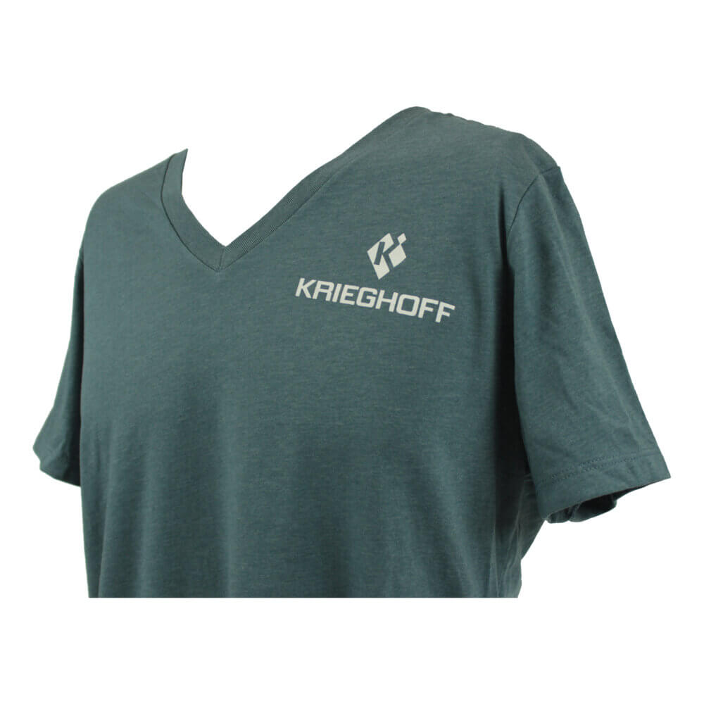 Krieghoff Ladies' V-Neck T-Shirt, Relaxed Fit, Slate