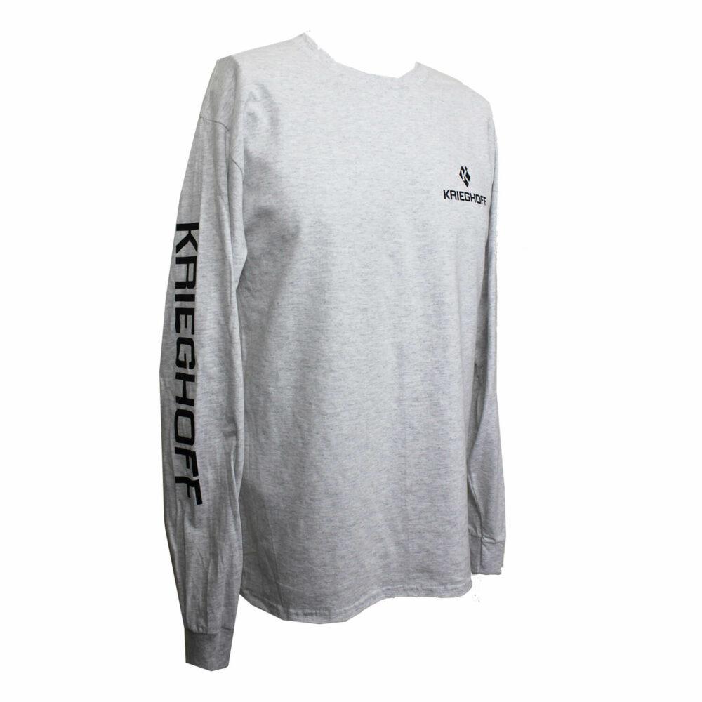 Krieghoff Long Sleeve T-Shirt, Ash Grey