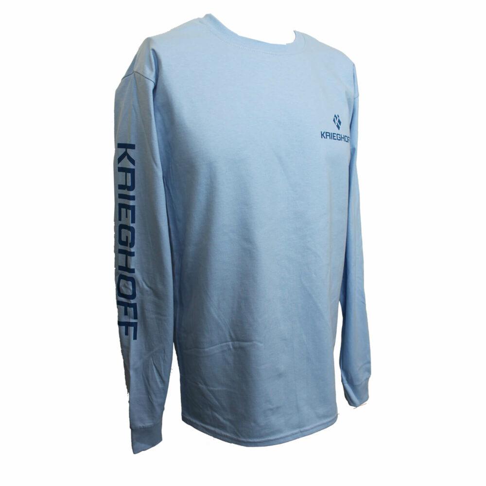 Krieghoff Long Sleeve T-Shirt, Light Blue