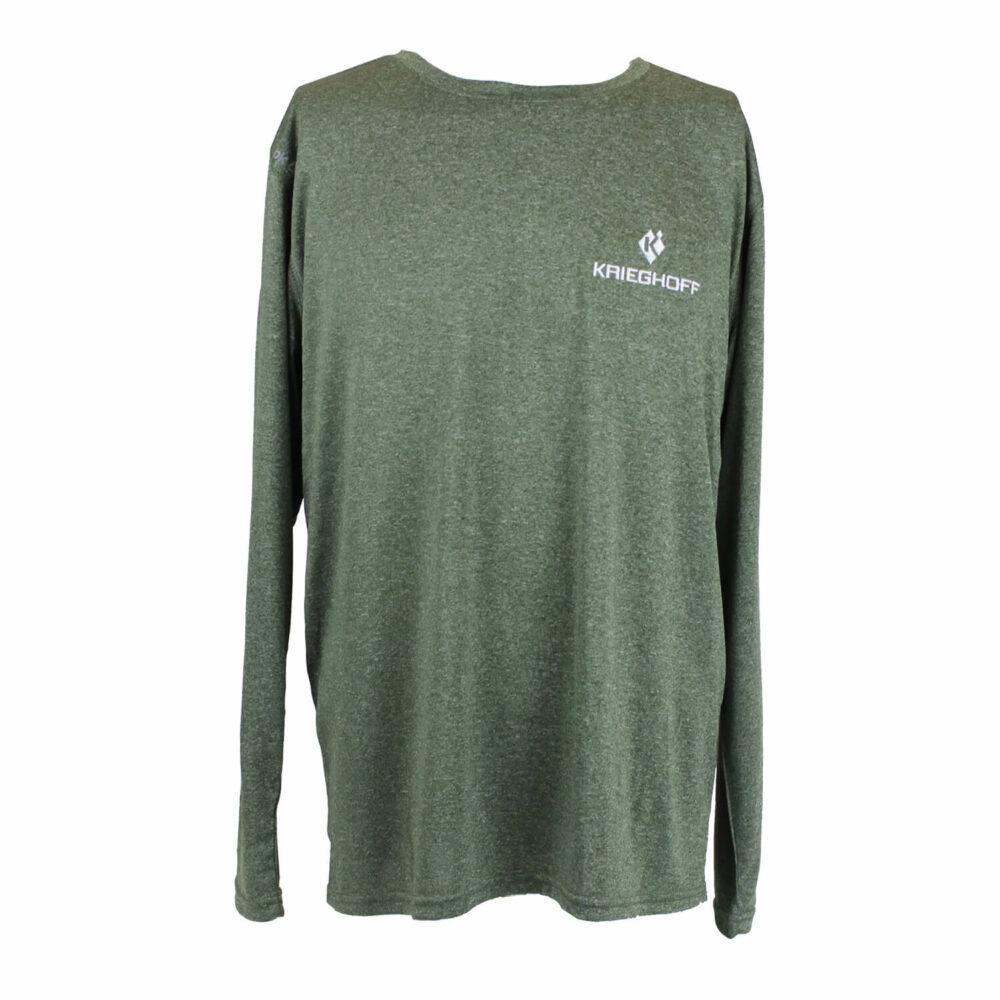 Reebok® Long Sleeve Performance T-Shirt, Heather Forest Green