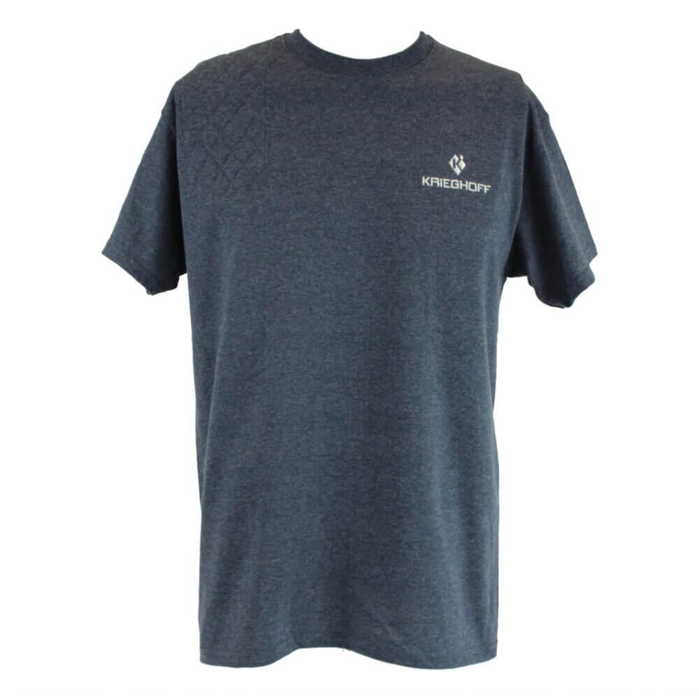 Krieghoff Short Sleeve Shooting T-Shirt, Heather Navy, Left Handed