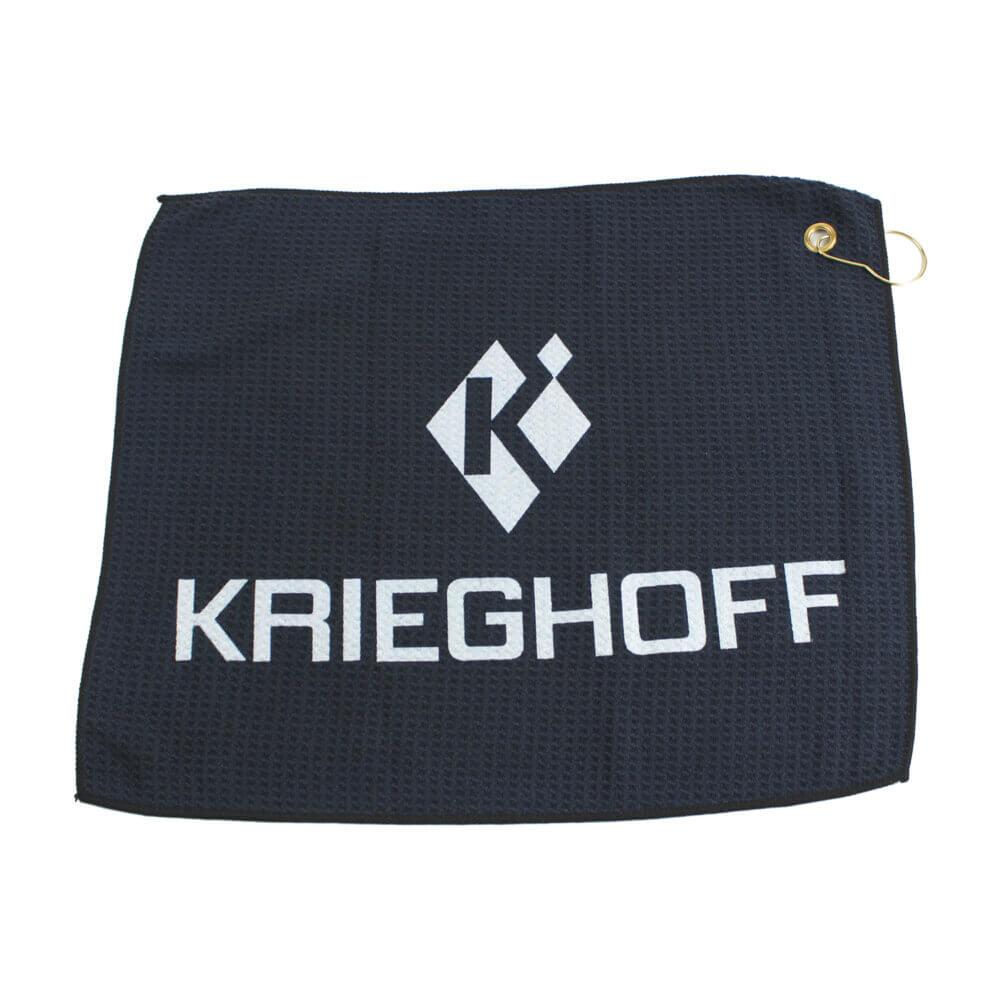 Krieghoff Waffle Knit Gun Towel, Black