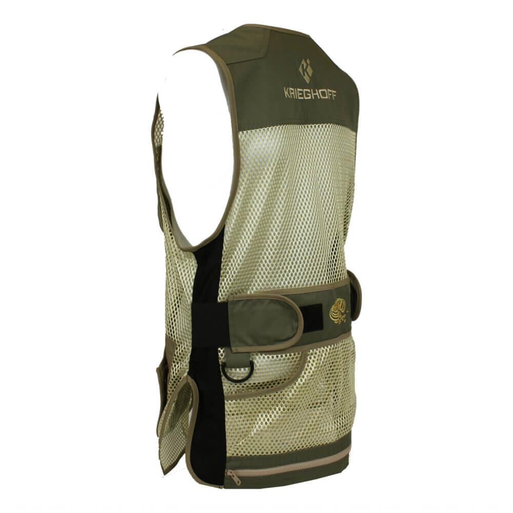 Krieghoff Ladies' Mesh Vest by MizMac – Right Handed, Sage and Khaki