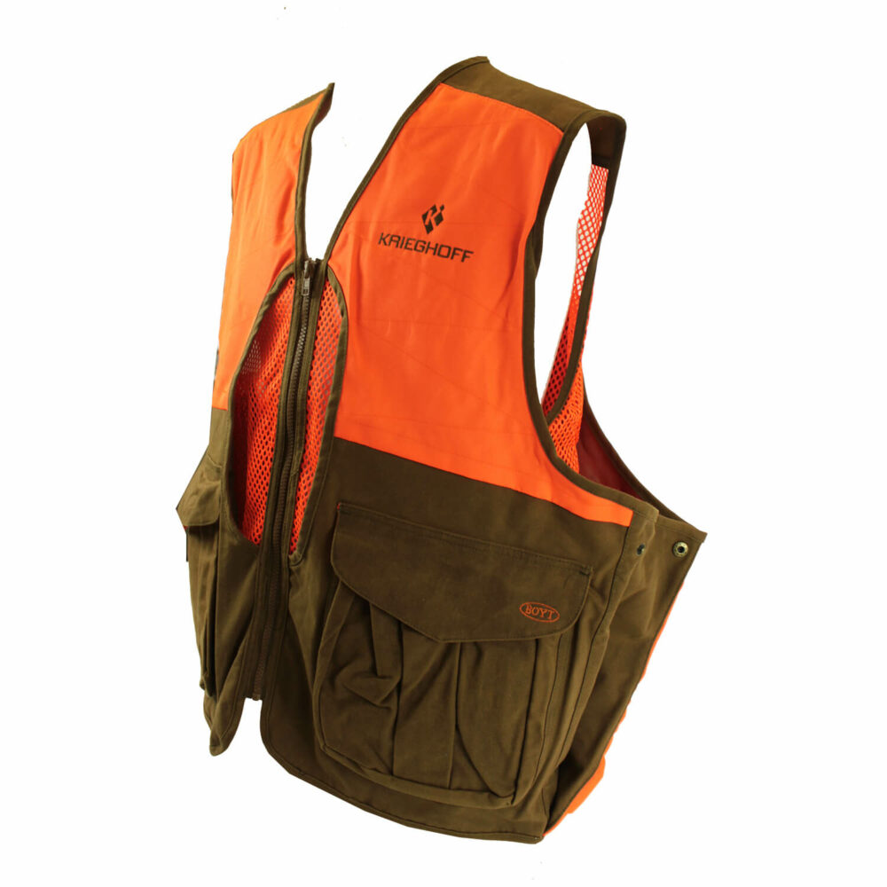 Krieghoff Waxed Cotton Upland Vest with Mesh Back, by Boyt