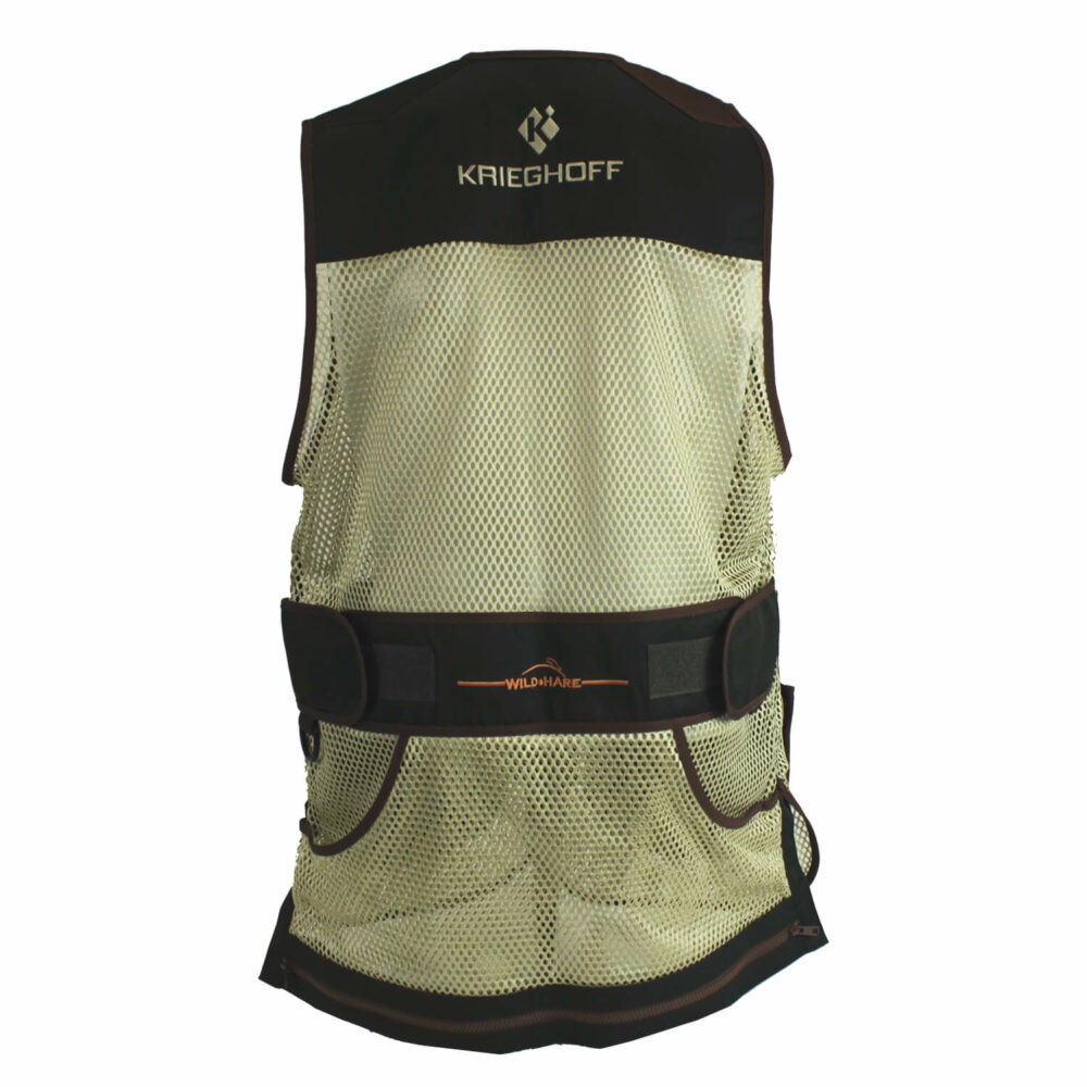 Krieghoff Mesh Vest by Wild Hare – Right Handed, Forest Green/Brown